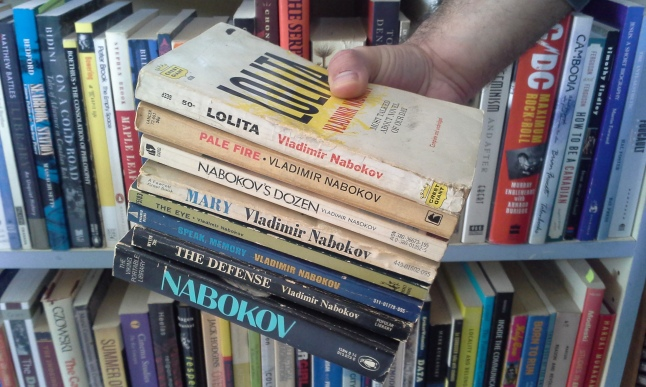 All eight of my Nabokov books.