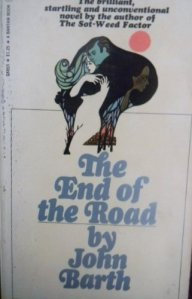 The image from this 1967 edition of The End of the Road is tattooed on my right arm.